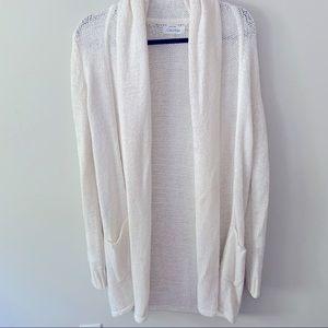White Calvin Klein knit Cardigan